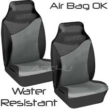 Aquasport Water Resistant Air Bag OK Grey Black Car Front Seat Protectors Pair