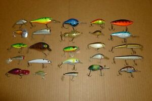 LOT #3 OF RAPALA MANN'S CORDELL REBEL STORM AND UNKNOWN FISHING LURES