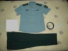 Obsolete 07's China PLA Army Man Officer Summer Short-sleeved Uniform,Set,E