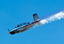2017 8x10 Photo JULIE CLARK T-34 CHROME TRAINER STUNT PLANE & PILOT AIR PLANE