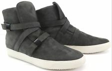 Cipher Parallax Men's Nubuck Suede / Leather Mid Top Trainers Sneakers - Grey