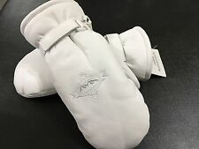Fall Line Alpine Pro Mitt Leather Ski Glove White Large Sample retail  $119.95