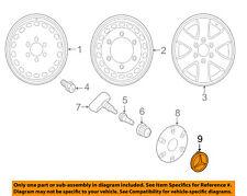 Wheel Cap-Hub - Titanium Silver w/Chrome Raised Star MERCEDES-BENZ OEM 66470202