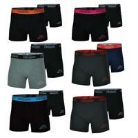 Kappa Hommes 2 Paquet Boxer Short Noir SPORTS sous-Vêtement Logo Classique Boxer