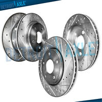 For 1998-2002 Honda Accord V6 Front and Rear DRILLED SLOTTED Rotors