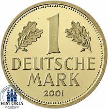 Deutschland 1 DM 2001 Goldmark Münzzeichen G Goldmünze BRD Karlsruhe