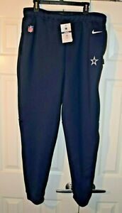 NFL Nike On Field Dri fit NAVY Sideline Pants Mens Large NWT Zippered pockets