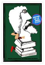 """Cuban Poster 4 film""""ART Thief""""Romanian film Graphic Design movie.Museum art"""