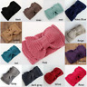 Women Knitted Headband Crochet Turban Bow Winter Ear Warmer bowknot band Gift