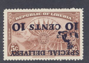 Liberia 1941 Special Delivery overprint, INVERTED overprint NH #E1