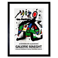 Advertisement Gallery Maeght Miro Paris Greek Framed Wall Art Print