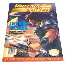 Nintendo Power Magazine Volume 65 Gaia + Earthworm Jim Poster Cards Snes Nes
