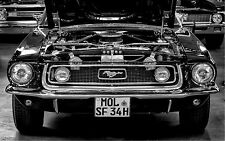 STUNNING CLASSIC MUSTANG MUSCLE CAR #315 QUALITY CAR CANVAS PICTURE WALL ART