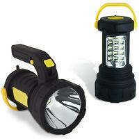 LED Spotlight Torch 2 in 1 Lantern Work Light Batteries Inc. Super Bright 5W COB