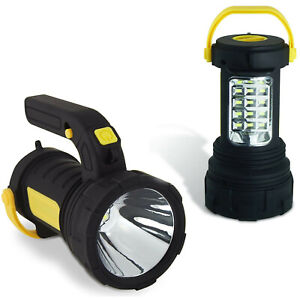 LED Spotlight Torch 2 in 1 Lantern Work Light Batteries Inc. Super Bright 5W COB