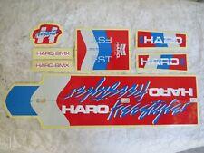 HARO FST FREESTYLER DECALS SET BMX  STICKER RACING FACTORY REPRODUCTION