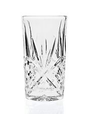 SHANNON CRYSTAL BY GODINGER DUBLIN CRYSTAL HIGHBALL GLASSES CLEAR SET OF 4 NEW