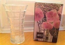 "NEW Mikasa Crystal 4 3/4"" Bud Vase Monarchy In Box"