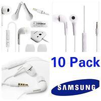 Samsung Headset Earphones Headphone Galaxy S6 S7 S5 Note EO-HS3303WE OEM 10 PK