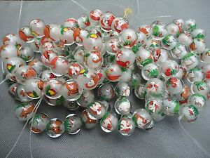 One Chinese Vintage New inside Pained Glass Bead Hand Blown Zodiac Animals Dogs