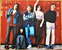 THE BREAKFAST CLUB SIGNED PHOTO x5 CAST HALL RINGWALD ESTEVEZ SHEEDY NELSON BAS
