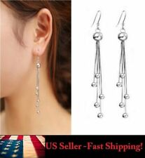 1 Pair Ball Charm Tassels Chain Drop Dangle Eardrop Party Gift  Earrings Jewelry