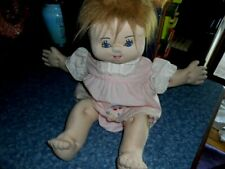"Vintage 80's Soft Sculptured Adoption Doll~Handmade~Tag with Maker's Name-19"" Gc"