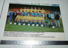 CLIPPING POSTER FOOTBALL 1987-1988 FC GUEUGNON FORGERONS JEAN-LAVILLE