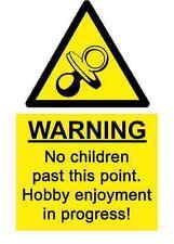 A5 Spass Schuppen Garage kein Kinder Aufkleber - Drechseln Oldtimer Gesundheit &