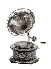 Nostalgie Grammophon Gramophone Dekoration Trichter Grammofon antik-Stil rund