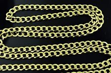 14k solid yellow gold solid curb chain necklace lobster 6.50 grams #3865 24 inch