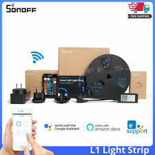 SONOFF L1 Smart LED Dimmable Waterproof WiFi Flexible RGB Lights Strip String