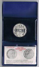 NEDERLAND 25 ECU 1989 ZILVEREN MUNT HUYGENS PROOF IN  originele box+certificaat