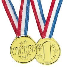 12 Gold Winner Medals Necklace Sports Awards Prizes Birthday Party Favors