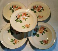 Beswick Marie  'A Somerset Cottage' 5 Piece Fruit Dessert Cereal Bowl Set