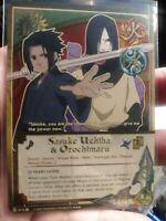 Naruto CCG Sasuke Uchiha & Orochimaru [3 Years Later] 414 Super Rare (Used)