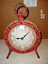 """VGUC """"NAUTICAL PULLEY SHAPED DESK CLOCK """" WORKS GREAT"""