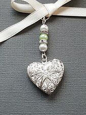 Special order Filigree Heart Locket Bouquet Charms (20) colour mix pearls