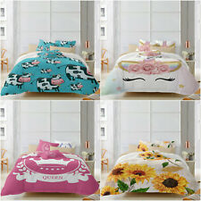 Soft Duvet Cover Set Twin Size Bed Comfort Bedding Cover Set Cartoon New Lovely