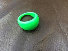 Bright Green Chunky Wide Plastic Ring - NEW!! Retro 80's