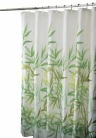 "InterDesign 36524 Anzu Fabric Shower Curtain  - Standard, 72"" x 72"", Green"