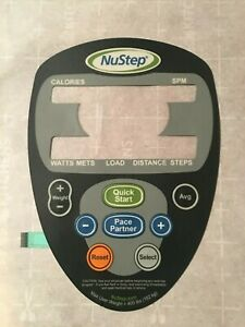 NuStep T4r Recumbent Elliptical Trainer Button Panel for Display Parts (os)