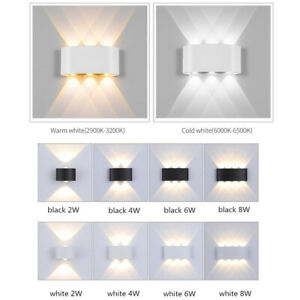 LED Wall Lamp Modern Nordic Style Up Down Lighting Wall Light Sconce Hotel Decor