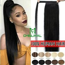 Long Human Hair Ponytail Extension Wrap Around Clip In Pony Tail Extensions 50g