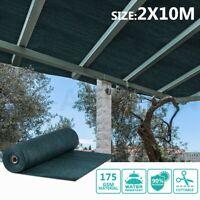 OGL 90% UV Block Sun Shade Cloth Sail Roll Outdoor 2x10m Mesh Shadecloth Green