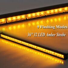 "35.5"" 32 Amber LED Emergency Traffic Advisor Light Bar Flash Strobe Warm Warning"