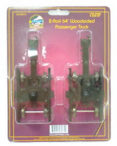MTH 20-89012 2-Rail 64' Woodsided Passenger Car Trucks (Set of 2)