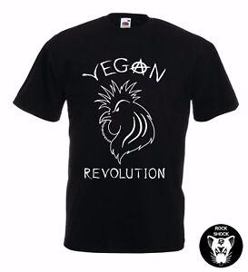 Vegan Chicken Unisex TShirt Punk Rock Revolution Activist Black Organic Gift