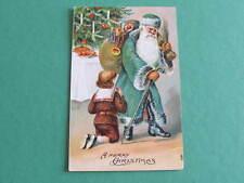 Green Robe Santa Christmas Postcard Postally used South Australia