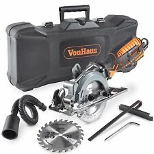 VonHaus 5.8 Amp Powerful Compact Circular Miter Saw Kit Hardcase Wood MDF DIY